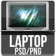 Laptop - PSD/PNG - Resizable - GraphicRiver Item for Sale