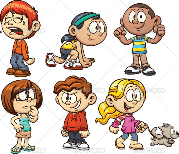 cartoon kids by memoangeles graphicriver