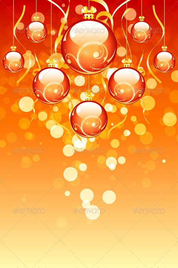 Christmas Balls with Sparkles - Christmas Seasons/Holidays