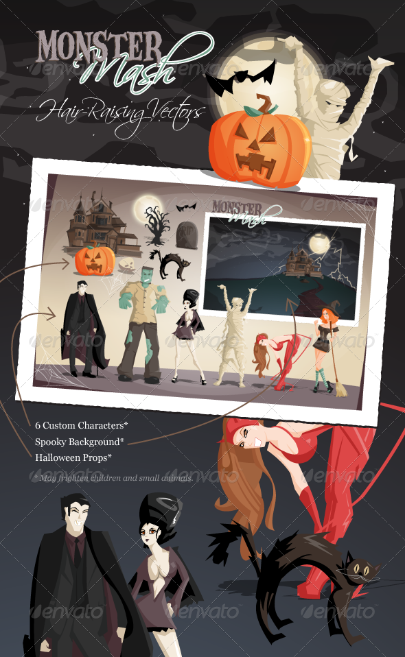 Monster Mash Halloween Vectors - Halloween Seasons/Holidays