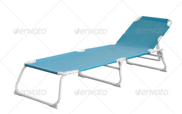 Camp cot - Stock Photo - Images