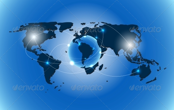 World Map Background Vector Illustration by yganko GraphicRiver