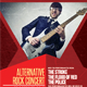 Alternative Rock Concert Flyer Template - GraphicRiver Item for Sale