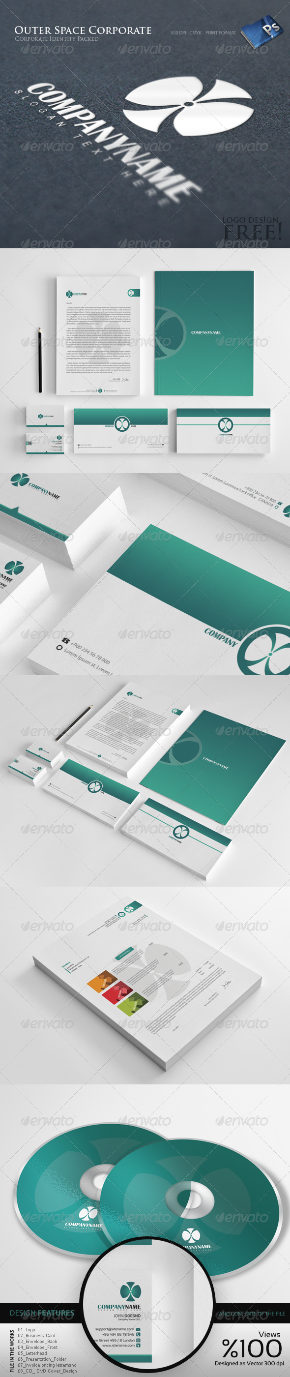 Outer Space - Corporate Identity 8 - Stationery Print Templates