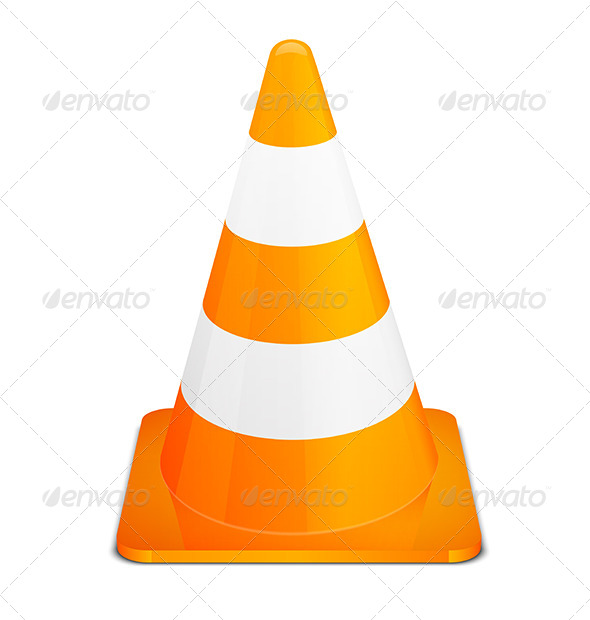 Traffic Cone Icon by computerman | GraphicRiver