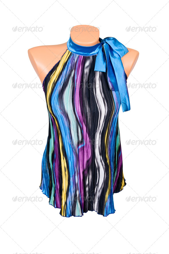 Trendy,modern tunic on a white. - Stock Photo - Images