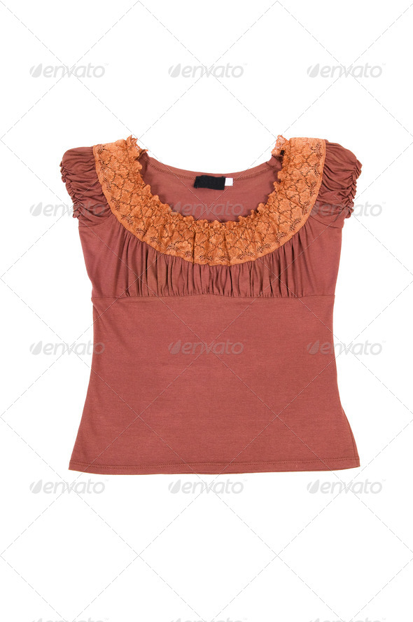Funny,stylish blouse on a white. - Stock Photo - Images