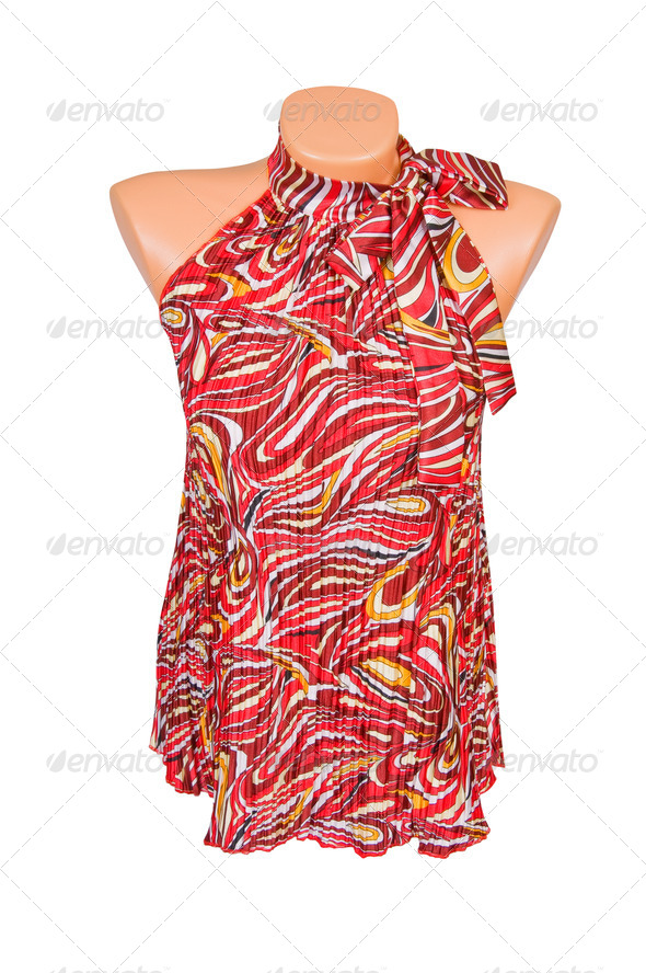 Trendy tunic on a white. - Stock Photo - Images