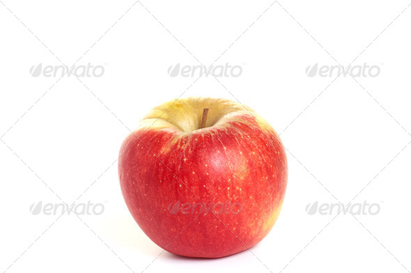 Fresh, tasty apple  on a white background. - Stock Photo - Images