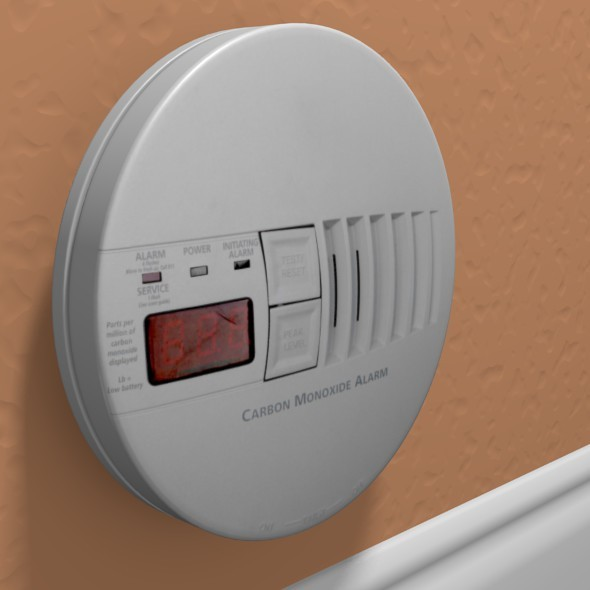 Carbon Monoxide Alarm - 3DOcean Item for Sale