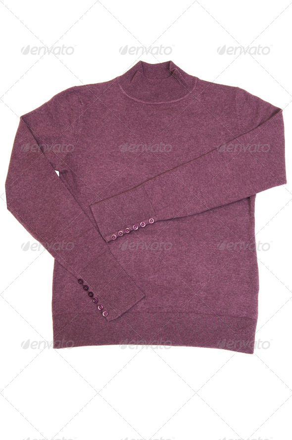 Modern warm sweater on a white. - Stock Photo - Images