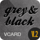 Grey & Black - Stylish Online vCard Html Template Nulled
