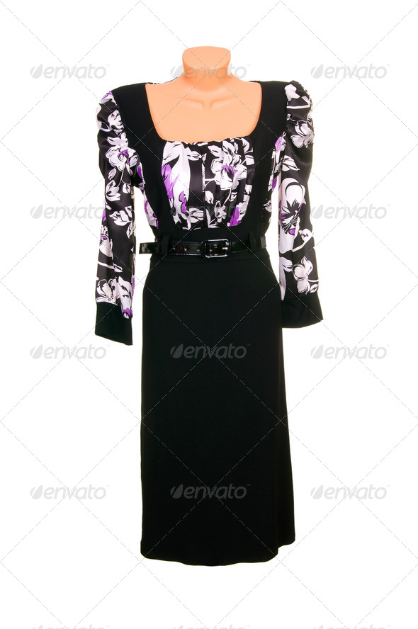 Trendy  dress  on a white. - Stock Photo - Images