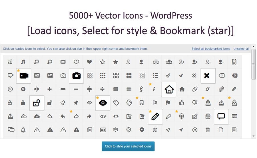 5,000+ Vector Icons - WordPress