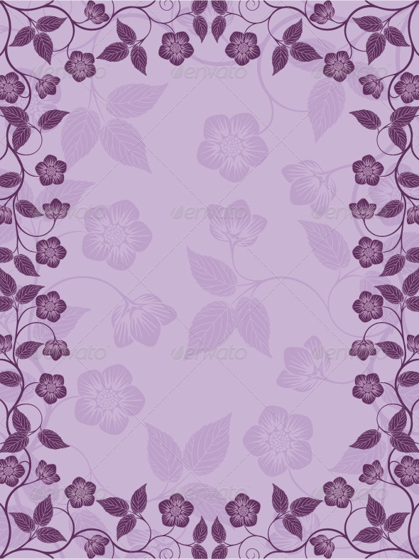 Vintage floral frame. Decorative pattern - Borders Decorative