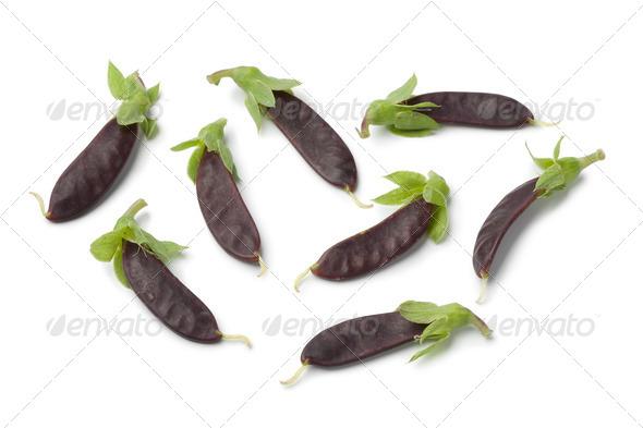 Mini purple snow peas - Stock Photo - Images