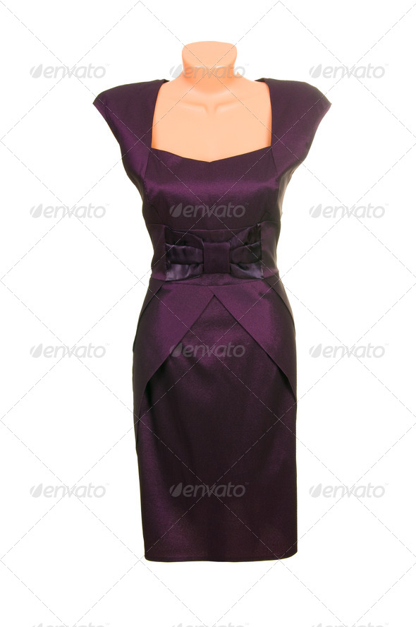 Modern dress on a white. - Stock Photo - Images