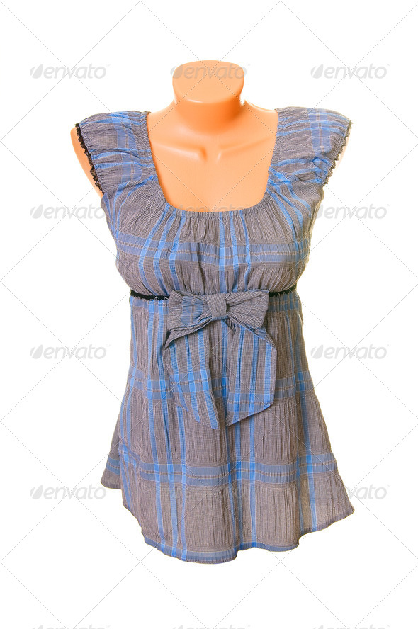 Elegant tunic on a white. - Stock Photo - Images