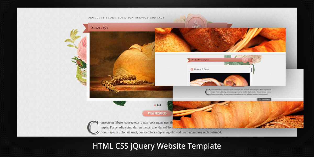 html5 parallax scrolling template free - old bakery layered parallax html5 web template by