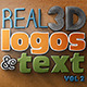 Real 3D Logos and Text - Vol2 - GraphicRiver Item for Sale