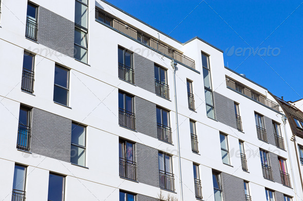 Modern apartment building - Stock Photo - Images