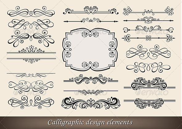 Calligraphic Design Elements - Retro Technology