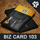 Business Card Design 103 - GraphicRiver Item for Sale