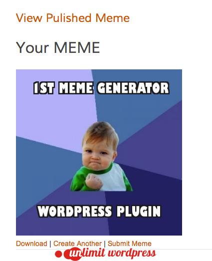 Meme Generator WordPress Plugin by JordanBanafsheha ...