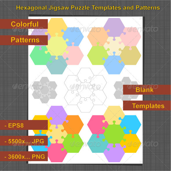 Hexagonal Jigsaw Puzzles - Backgrounds Business