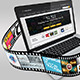 Laptop with Film Strip Mockup - GraphicRiver Item for Sale