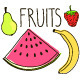 Fruits Doodles - GraphicRiver Item for Sale