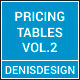 Modern Web Pricing Tables Vol. 2 - GraphicRiver Item for Sale