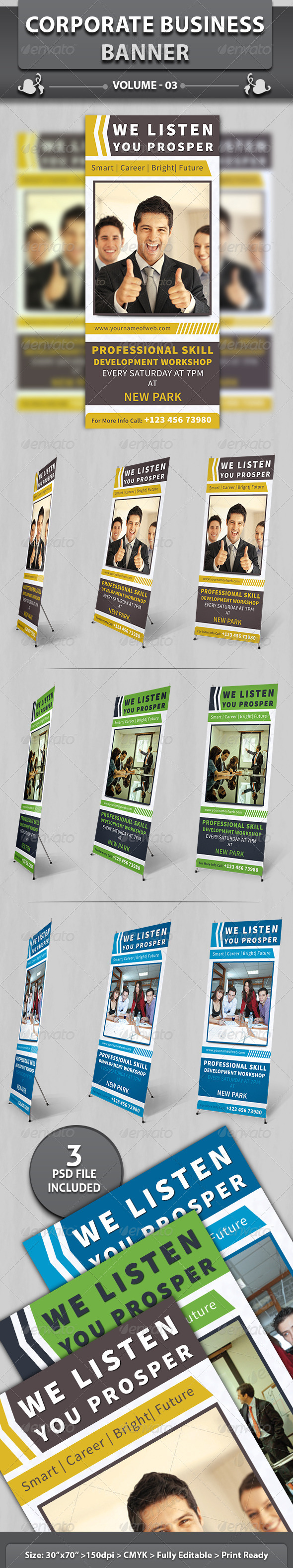 Corporate Business Banner | Volume 2 - Signage Print Templates