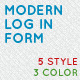 Modern Log In Form - GraphicRiver Item for Sale