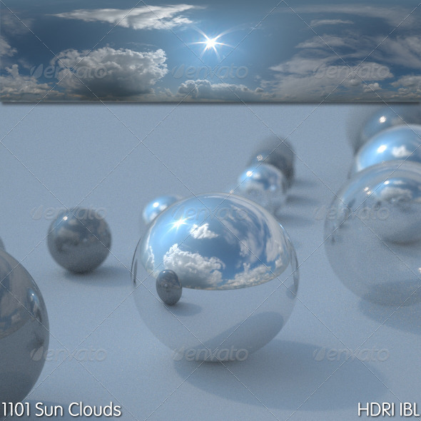 HDRI IBL 1101 Sun Clouds - 3DOcean Item for Sale