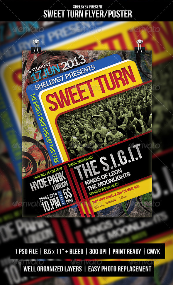 Sweet Turn Flyer / Poster - Events Flyers