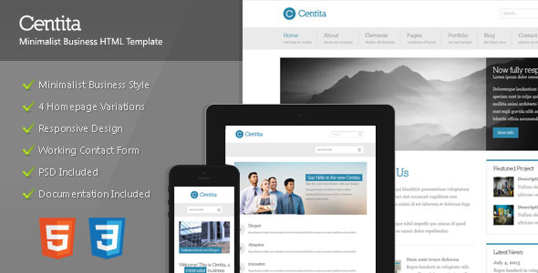 Free Download Centita - Minimalist Business Template Nulled Latest Version
