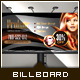 Golden Beauty Salon - Billboard Template - GraphicRiver Item for Sale
