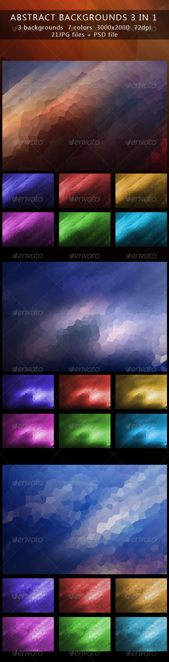 Abstract backgrounds part 2 3in1 - Abstract Backgrounds