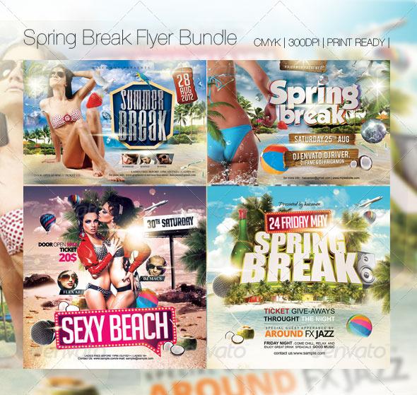 Summer Break Flyer Bundle