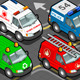Isometric Trucks Firefighters Police Ambulance - GraphicRiver Item for Sale