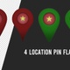 Vietnam Flag Location Pins Red And Green - VideoHive Item for Sale