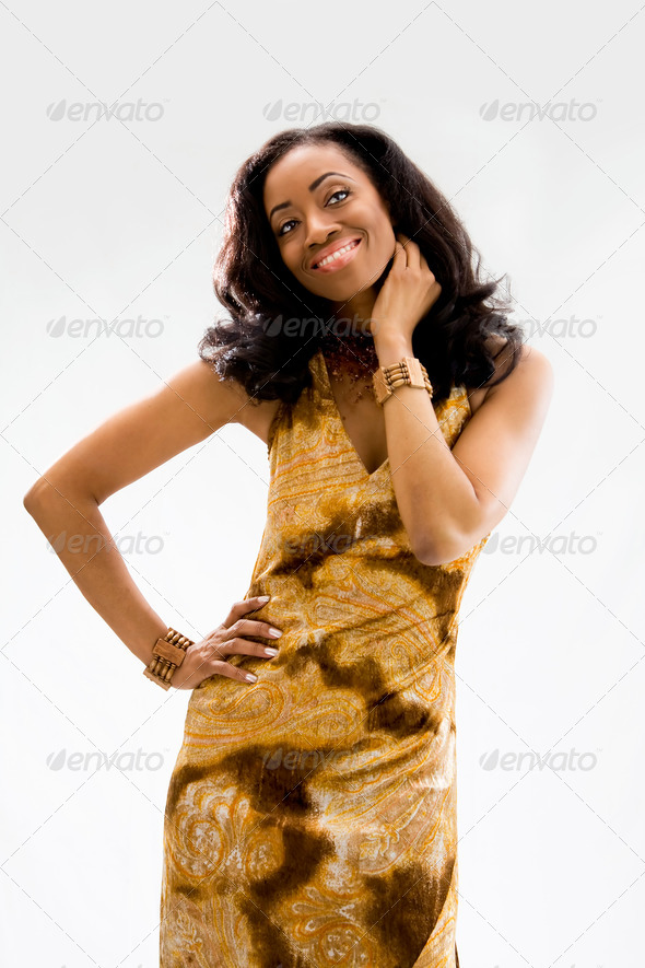 Beautiful African woman - Stock Photo - Images