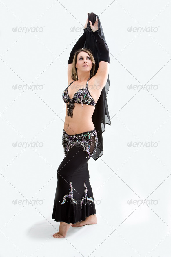 Belly dancer in black - Stock Photo - Images