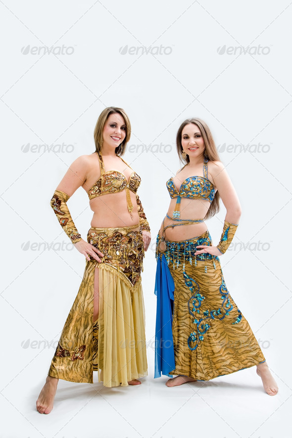 Two beautiful belly dancers - Stock Photo - Images