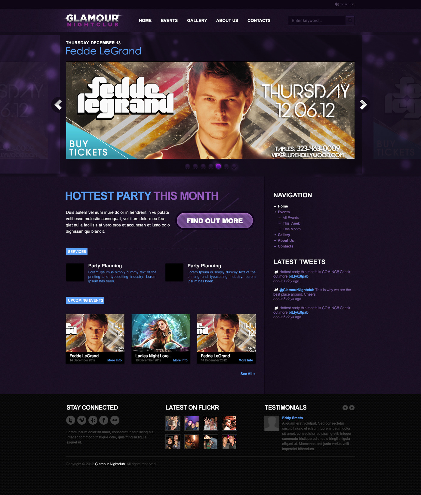 Glamour Nightclub - PSD Template by vacis | ThemeForest