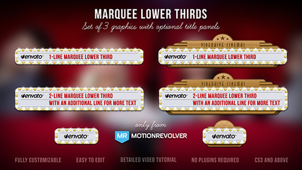 Videohive - Marquee Lower Thirds 5211013