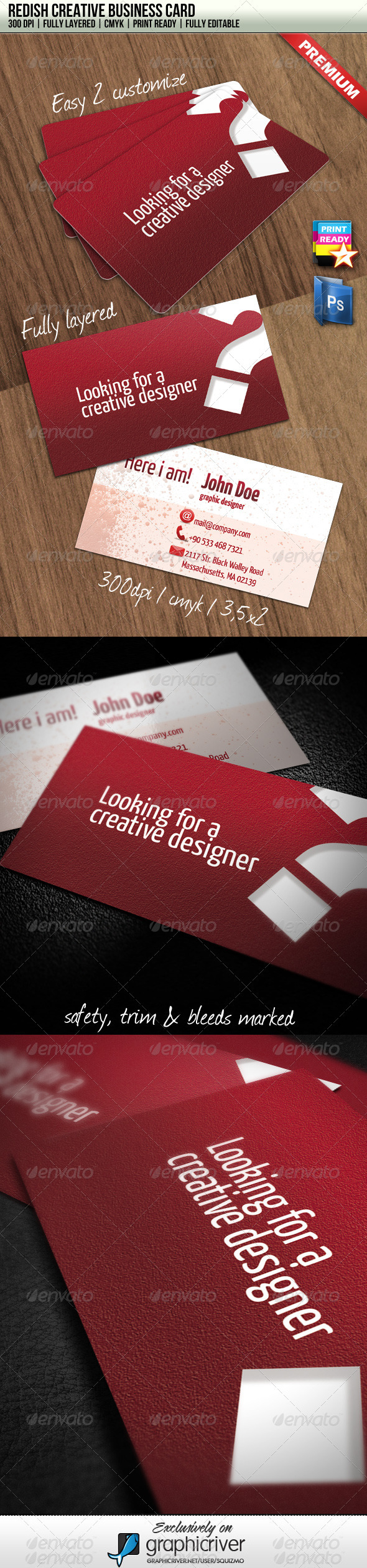 Redish Creative Business Card - Creative Business Cards
