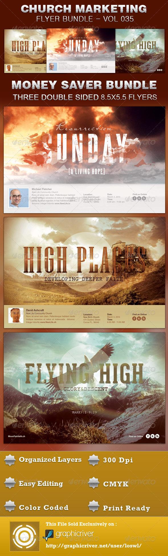 Church Marketing Flyer Bundle Vol 035 - Church Flyers