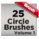 25 Circle Brushes - GraphicRiver Item for Sale